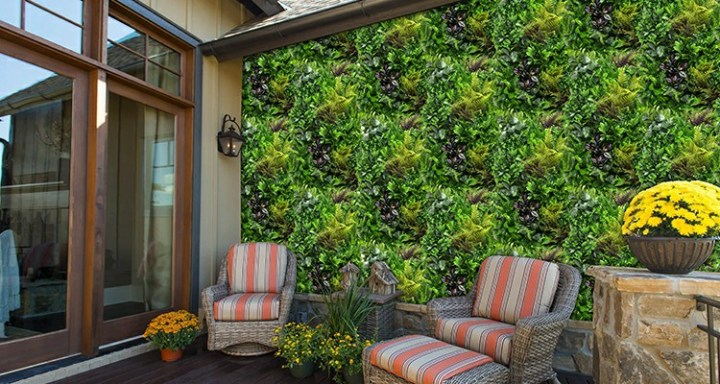 3 Classic Foliage Mix Artificial Hedges for Wall Design - Summer Sale