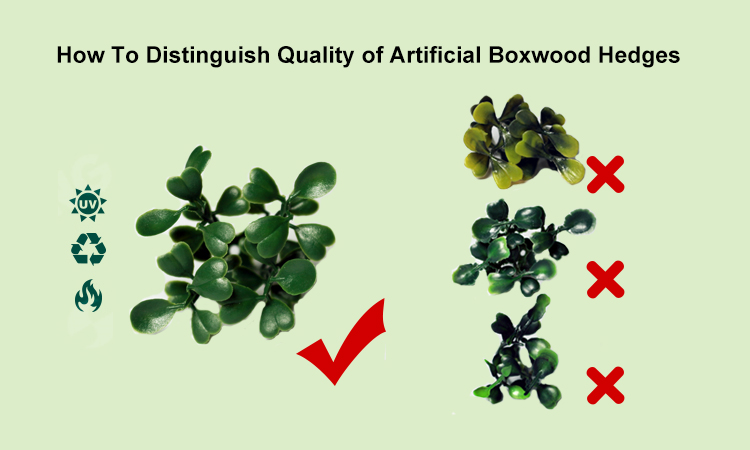 How To Distinguish Quality of Artificial Boxwood Hedges