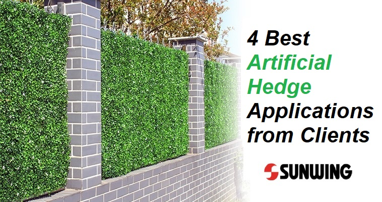 4 Best Artificial Hedge Applications from GreenArtPlants Clients