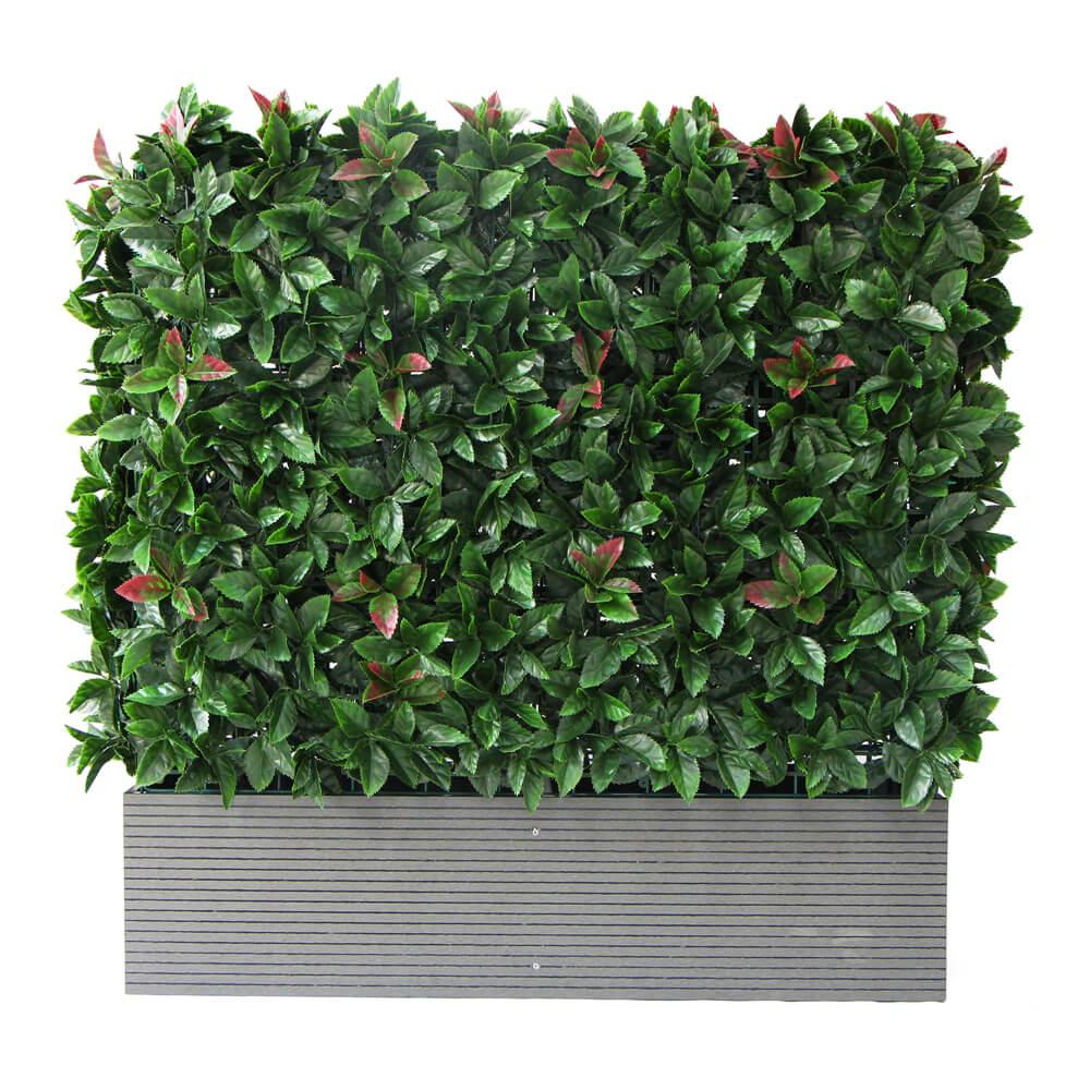Hedge Panels with Planter Box